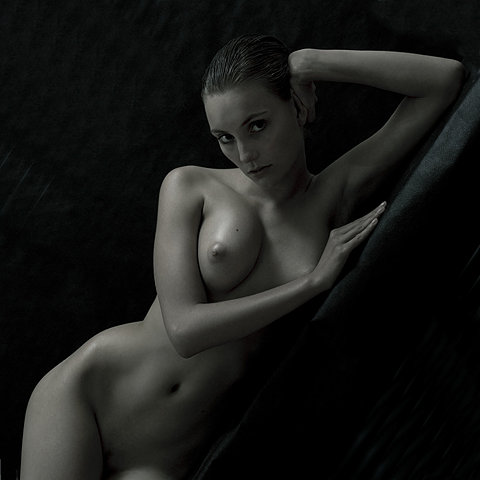 Superb naked model with perky tits