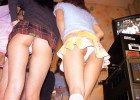 Teens upskirt in pub
