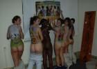 Many hot naked teens body painted
