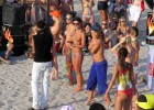 Beach party with hot topless babes