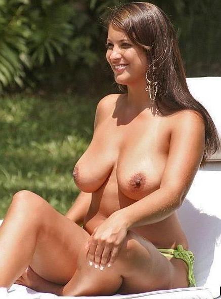 Topless exotic beauty caught on camera