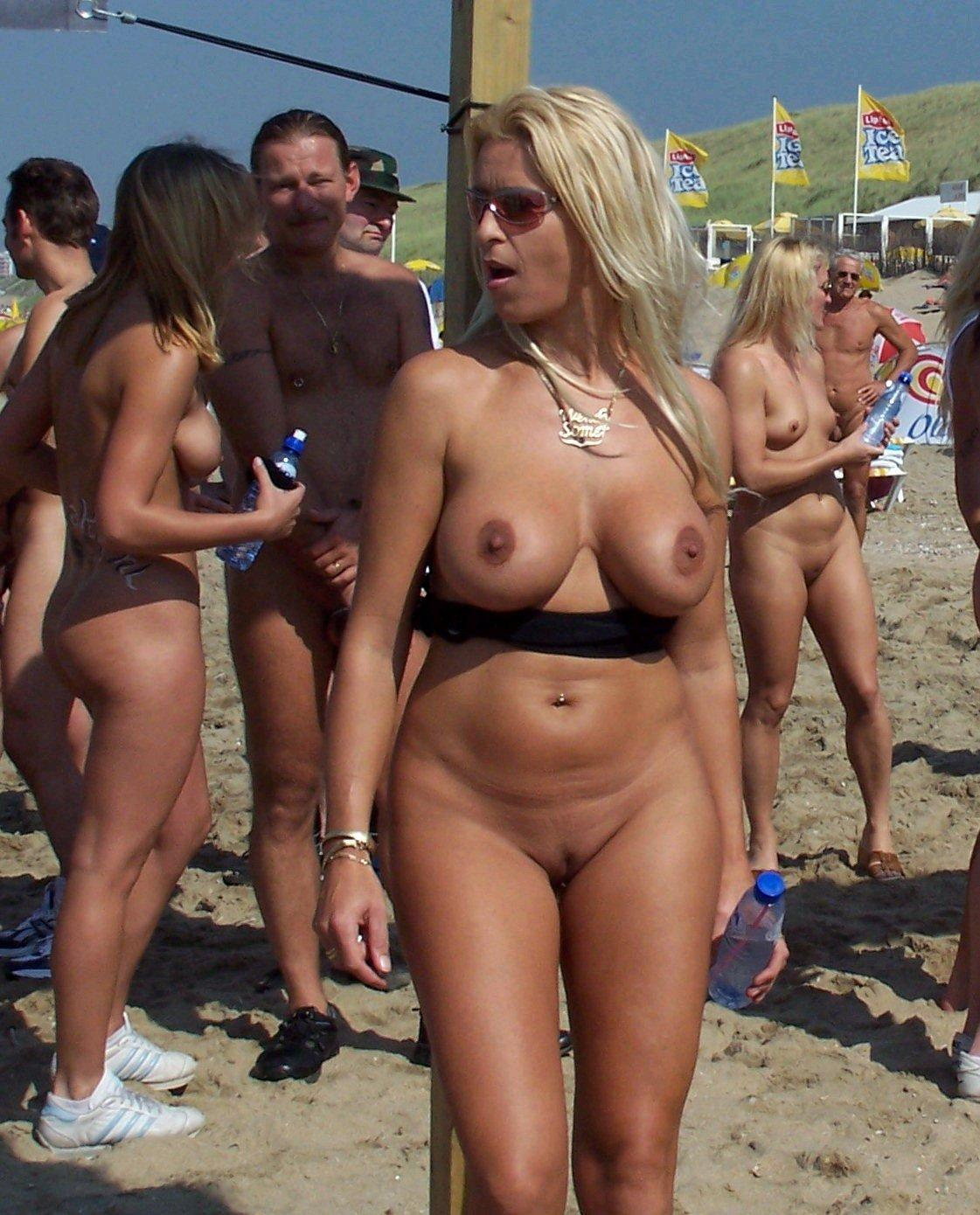 Sexy lady caught nude with her nipples aroused