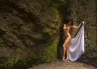 Sexy hot babe in the nature nude