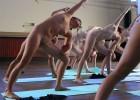 Naked girls doing yoga