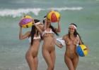Naked hotties having fun in the water